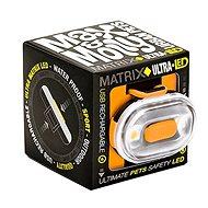 Max & Molly Matrix Ultra LED Cube, bezpečnostní světlo, oranžové - Světlo na obojek