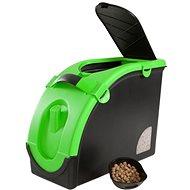 Maelson Zásobník na granule pro 13 kg krmiva - černo-zelený - 56× 24× 41 cm - Barel na granule