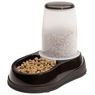 Maelson Miska na krmivo se zásobníkem na 600 g krmiva - černo-bílá - 17 × 28 × 23 cm - Miska pro psy