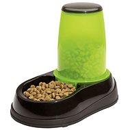 Maelson Feeding Bowl with 600g Feed Dispenser - Black-green - 17 × 28 × 23cm - Dog bowl