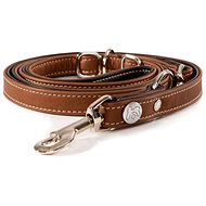 Maelson Hand-sewn Genuine Leather Leash - Brown - Length of 210cm, Thickness of 1.8cm, Width of 18 - Lead