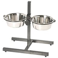 IMAC Anti-Slip Adjustable Stand with Two Bowls 1900ml - 21cm - Bowl rack