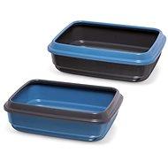 IMAC Cat Litter Tray made of recycled plastic - black - L 50 × W 40 × H 14.5cm - Cat Litter Box