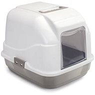 IMAC Indoor Cat Litter Tray with carbon filter and scoop - beige - L 50 × W 40 × H 40cm - Cat Litterbox