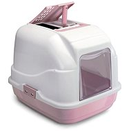 IMAC Indoor Cat Litter Tray with carbon filter and scoop - pink - L 62 × W 49.5 × H 47.5cm - Cat Litterbox
