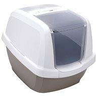 Kočičí toaleta IMAC Krytý kočičí záchod s uhlíkovým filtrem a lopatkou - šedý - D 62 × Š 49,5 × V 47,5 cm