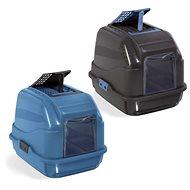 IMAC Krytý kočičí záchod s uhlíkovým filtrem a lopatkou 50 × 40 × 40 cm modrý - Kočičí toaleta