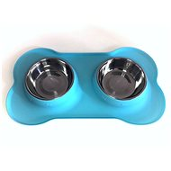 Janette Pets Silicone 2x 250ml, blue - Dog bowl