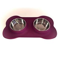 Janette Pets Silicone Set 2x 250ml, violet - Dog bowl