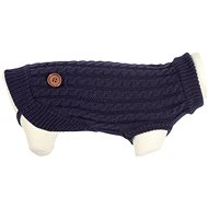 Braided Dog Sweater DANDY blue 25cm - Sweater for Dogs