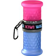 Kiwi Walker Travel Bottle 2-in-1, pink-blue, 750+500ml - Travel Bottles for dogs