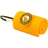 Kiwi Walker Waste Bag Holder with carabiner, yellow - Dog Feces Bags Tray