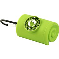 Kiwi Walker Waste Bag Holder with carabiner, green - Dog Feces Bags Tray