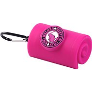 KKiwi Walker Waste Bag Holder with carabiner, pink - Dog Feces Bags Tray