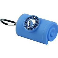 Kiwi Walker Waste Bag Holder with carabiner, blue - Dog Feces Bags Tray