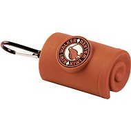 Kiwi Walker Waste Bag Holder with carabiner, brown - Dog Feces Bags Tray