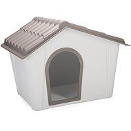 IMAC Bouda pro psa plastová - šedá/hnědá - D 98,5 77,5×V 72,5 cm -  Bouda pro psa
