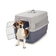 IMAC Přepravka pro psa a kočku plastová - modrá - D 60 x Š 40 x V 40 cm - Přepravka pro psa