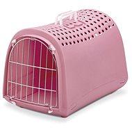 IMAC Přepravka pro psa a kočku plastová - růžová - D 50 x Š 32 x V 34,5 cm - Přepravka pro psa