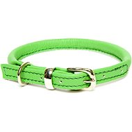Dogs & Horses Rolled Leather Green M