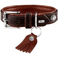 Hunter Cody Collar, Dark Brown 33 - 39cm - Leather Dog Collar