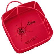 Hunter skládací miska List, červená 590 ml - Cestovní miska pro psy a kočky