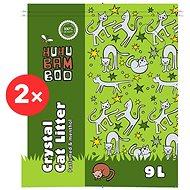 Huhubamboo silikonová podestýlka - mentol 2×9 l - Stelivo pro kočky