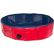Karlie Folding Pool for Dogs Blue/Red 120 × 30cm - Dog Pool