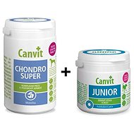 Canvit Chondro Super 230g + Canvit Junior for Dogs 100g DUOPACK 1 + 1 Free - Joint Nutrition for Dogs