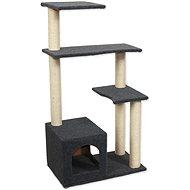 Magic Cat Odpočívadlo MC Leona 60×35×114cm koberec šedé - Škrabadlo pro kočky