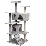 Shumee Škrabadlo se sisalovými sloupky šedá 67 × 67 × 125 cm - Škrabadlo pro kočky
