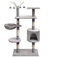 Shumee Škrabadlo se sisalovými sloupky šedá 96 × 35 × 125 cm - Škrabadlo pro kočky