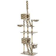 Shumee Škrabadlo se sisalovými sloupky béžové s tlapkami 230-260 cm - Škrabadlo pro kočky