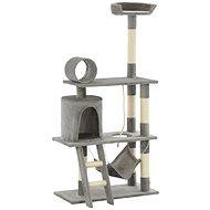 Shumee Škrabadlo se sisalovými sloupky šedé 70 × 35 × 140 cm - Škrabadlo pro kočky