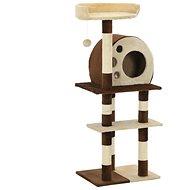 Shumee Škrabadlo se sisalovými sloupky béžovo-hnědé 50 × 40 × 127 cm - Škrabadlo pro kočky