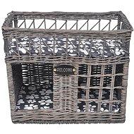 Shumee Kočičí Škrabadlo z vrbového proutí čtyřhranné s matrací 42 × 36 × 32 cm - Škrabadlo pro kočky