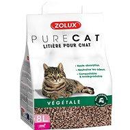 Zolux PURECAT natural absorb. rostlinná 8l - Stelivo pro kočky
