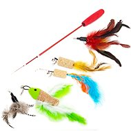 Akinu Cat Toy Rod with Feathers Set I. - Cat Toy