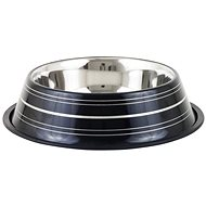 Akinu Deluxe Stainless-steel Bowl, Black, 400ml - Dog Bowl