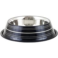 Akinu Deluxe Stainless-steel Bowl, Black, 900ml - Dog Bowl