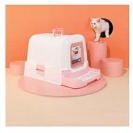M-Pets Suez Rattan 69 × 42 × 41 cm růžová - Kočičí toaleta