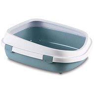 Stefanplast Queen extra velká toaleta s okrajem ocelově modrá 55 × 71 × 24,5 cm - Kočičí toaleta