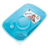 Cobbys Pet Welcome Kit startovací balíček pro koťata 37 × 27 × 8,5 cm (WC, lopatka, miska, míč) - Kočičí toaleta