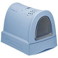 Kočičí toaleta IMAC Krytý kočičí záchod s výsuvnou zásuvkou 40 × 56 × 42,5 cm modrý