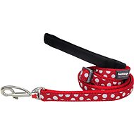 Red Dingo Leash White Spots on Red