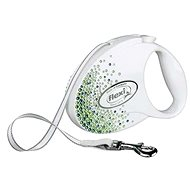 Flexi Glam SWAROVSKI® Splash Leaf páska bílá M 5m do 25kg - Vodítko