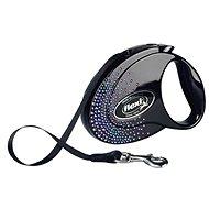 Flexi Glam SWAROVSKI® Splash Mystic páska černá M 5m do 25kg - Vodítko