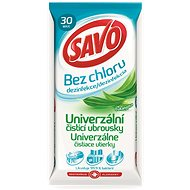 Savo Chlorine-Free Universal Cleaning Disinfectant Wipes, Eucalyptus, 30pcs - Wet Wipes