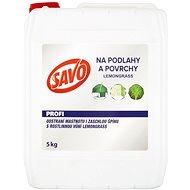 SAVO Podlahy a povrchy lemongrass 5 kg  - Čisticí prostředek