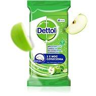 DETTOL Antibakteriální ubrousky na povrchy Zelené jablko 32 ks - Čisticí ubrousky
